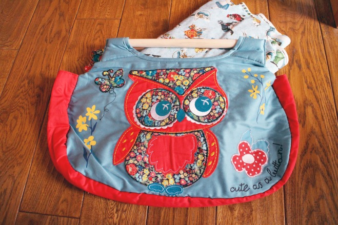 Owl sewing bag