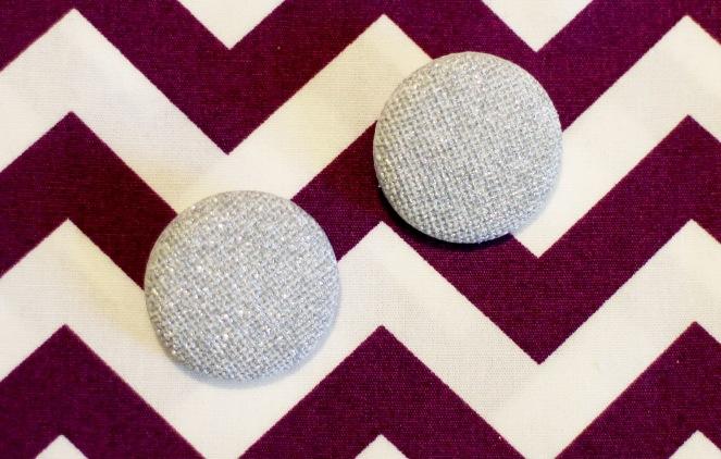 Silver sparkle buttons